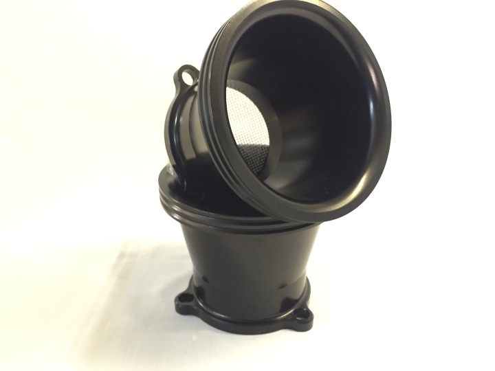 Black Anodised Air Intake Bell Mouth for CV Carb