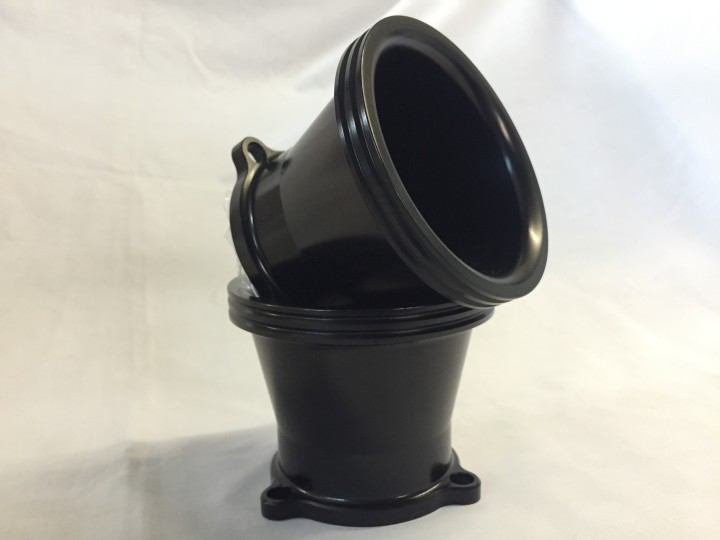 Black Anodised Air Intake Bell Mouth for S&S Carb