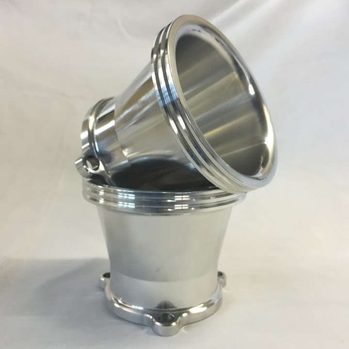 Polished Air Intake Bell Mouth for CV Carb