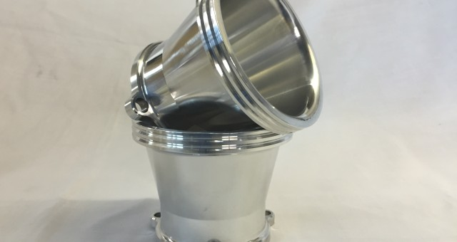Polished Air Intake Bell Mouth for S&S Carb
