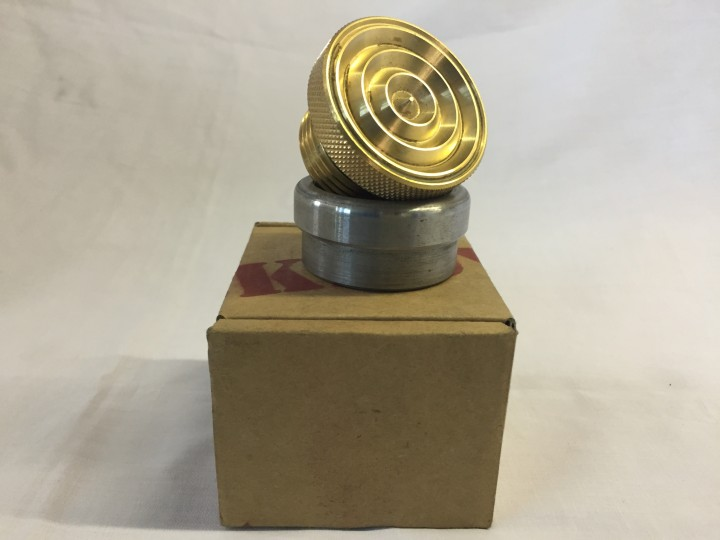 Brass Ribbed Weld in Gas/Oil Cap
