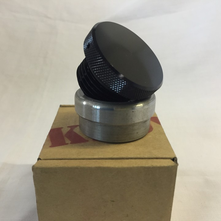 Black Anodised Smooth Weld in Gas/Oil Cap