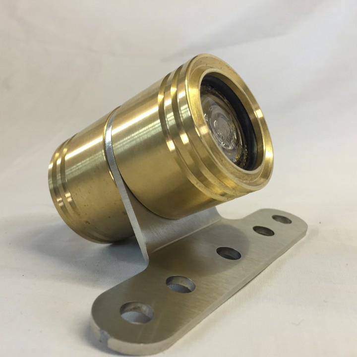 Brass Rocket Man LED Tail Light