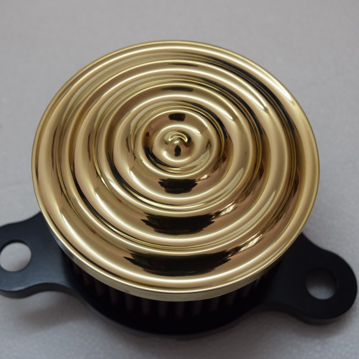 Sickboyz Mayhem Air Cleaner for Sportsters : Brass