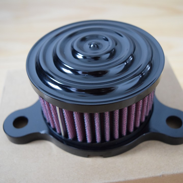 Sickboyz Mayhem Air Cleaners for Sportsters : Black Anodised