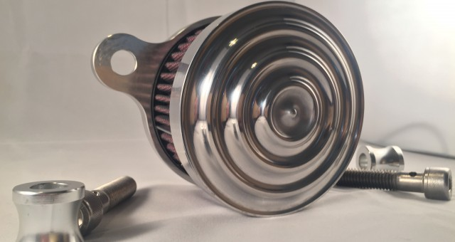 Sickboyz Mayhem Air Cleaner for Sportsters : Polished